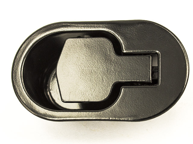 Metal Recliner Handle Only Oval Black
